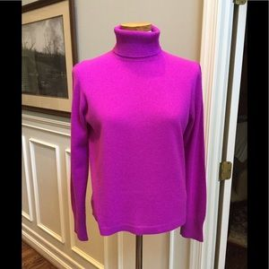 Purple J Crew cashmere sweater
